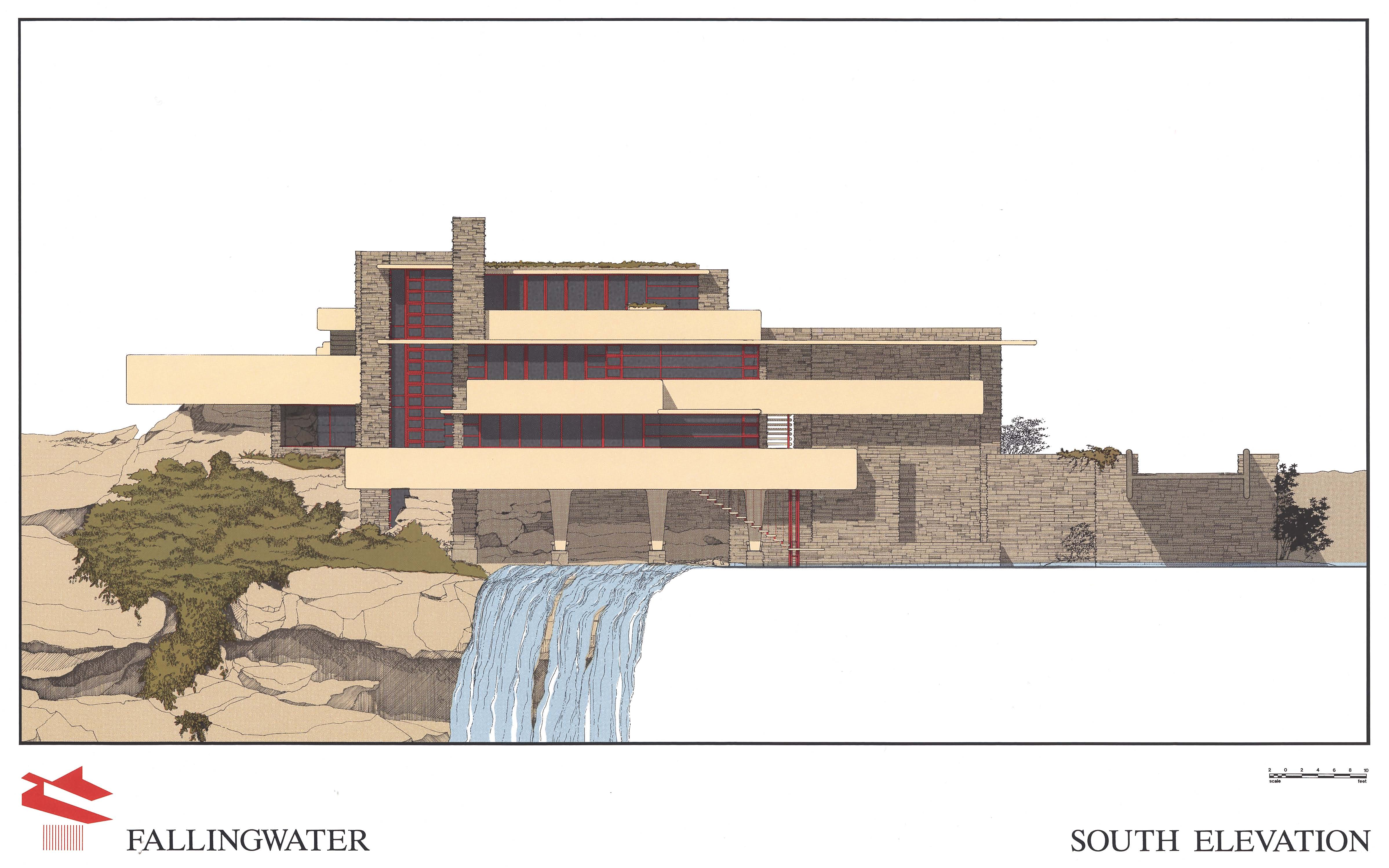 3 as well Falling Water House Plan in addition Simple Landscape Design Water Features likewise Fallingwater House Plans And Section further Frank Lloyd Wright Lego Falling Water. on frank lloyd wright falling water plans