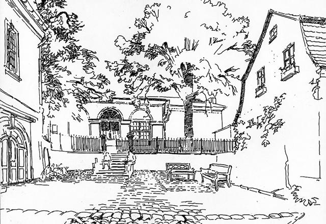 architektur haus zeichnen verspielte mit einem gemtlichen. Black Bedroom Furniture Sets. Home Design Ideas