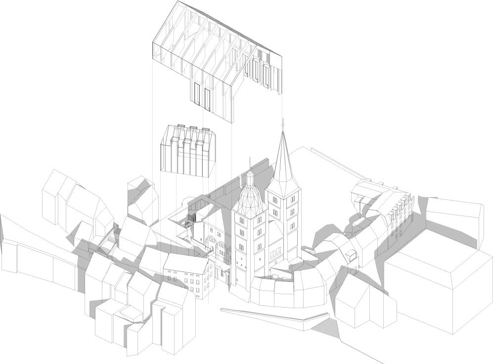 Rote spitzen entwerfen und raumgestaltung for Architektur axonometrie
