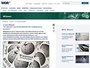Screenshot der Website