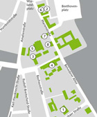 Site plan of the Facultys buildings