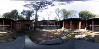 Unfolded Screenshot from a 360° Video showing the ECL-AA Villa at the Addis Ababa University in Ethiopia.