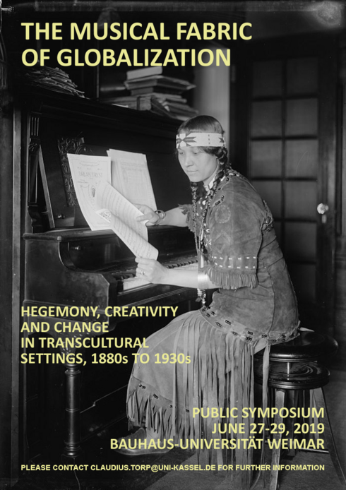Plakat der Konferenz »The Musical Fabric of Globalization: Hegemony, Creativity and Change in Transcultural Settings, 1880s-1930s«
