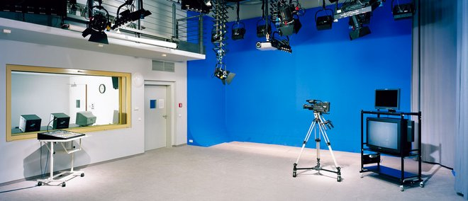 View inside the video studio