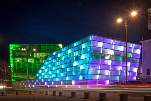 The Ars Electronica Center in Linz, one of the main venues of the Ars Electronica Festival. Source: Ars Electronica, Photo: Robert Bauernhansl