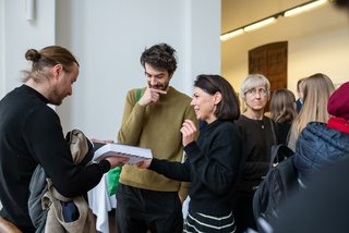 Book release and exhibition opening of the anniversary publication »Idee Inhalt Form. Contributions to shaping the present«, Bauhaus-Universität Weimar, Photos: Thomas Müller