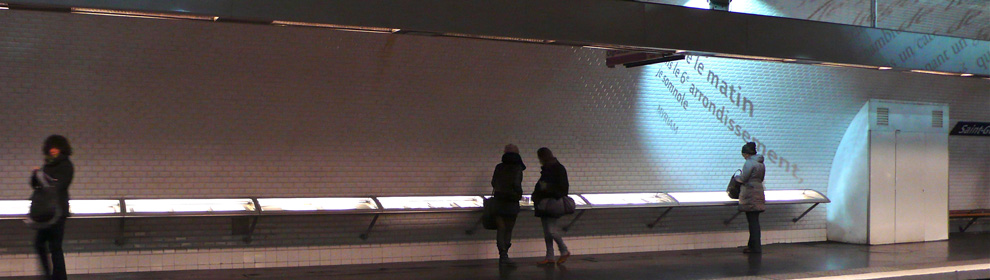 Fotografie der Metro Station Saint-Germain-des-Prés in Paris, Foto © Barbara Nemitz