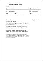 faxvorlage
