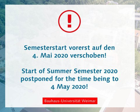 Digitaler Semesterstart am 4. Mai