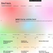 Bauhaus Universität Weimar Website Für Bauhaussemester Ist Online