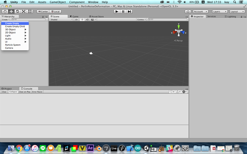 GMU:Tutorials/Visual Interaction/How to Control Unity with