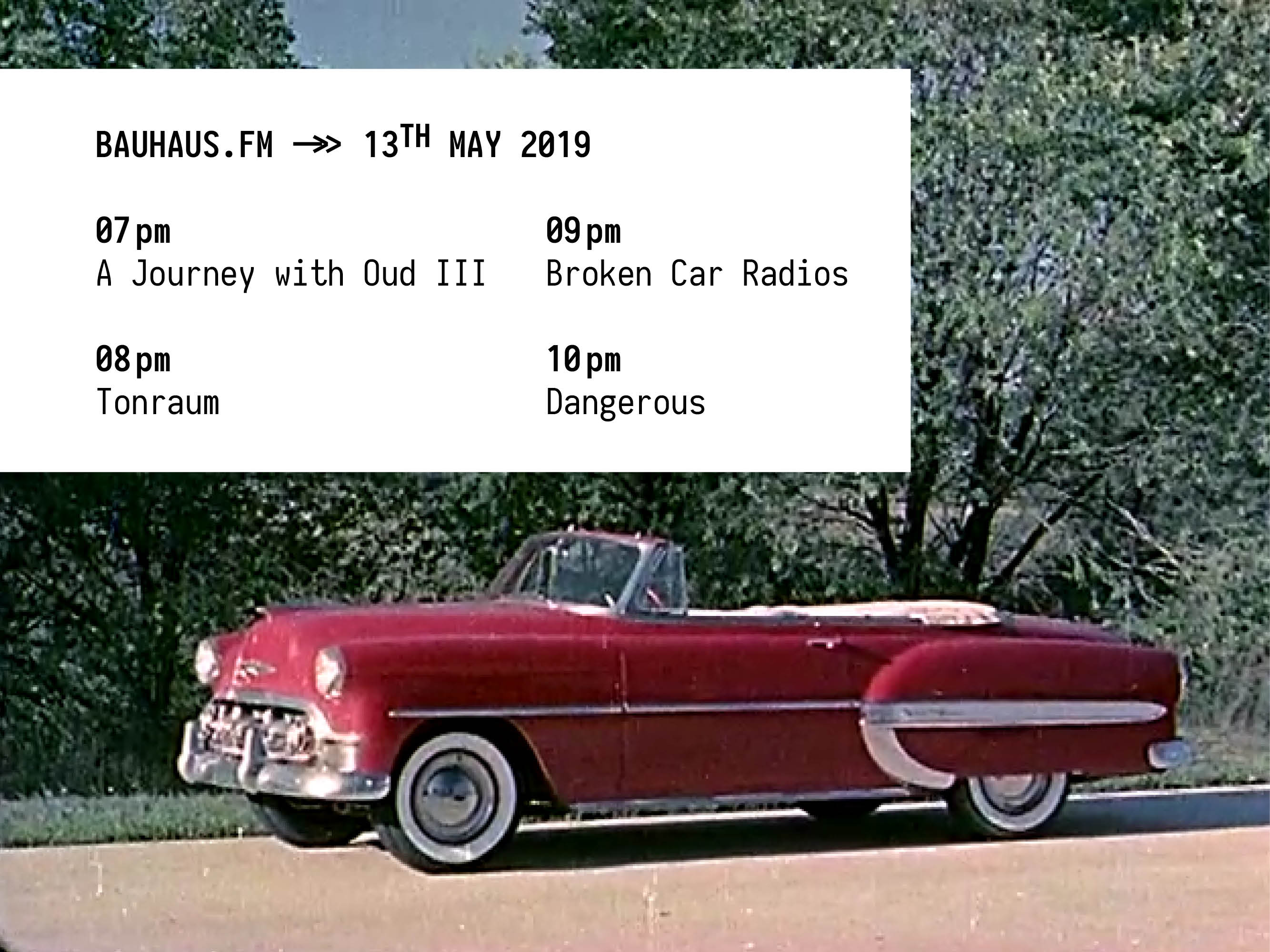 bauhaus.fm schedule for 13th May 2019