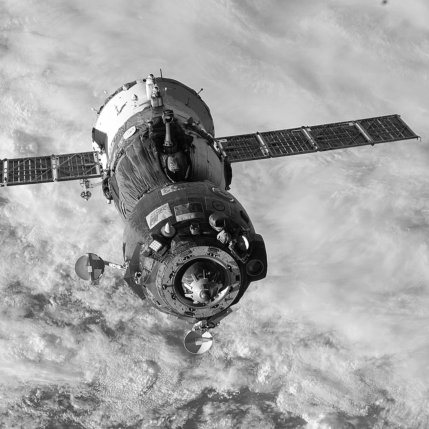 ISS-44 Soyuz TMA-15M spacecraft undocks.