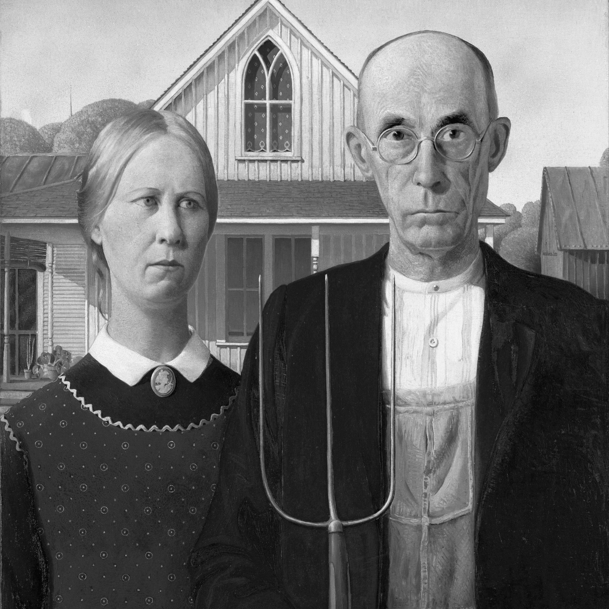 Grant Wood, American Gothic.