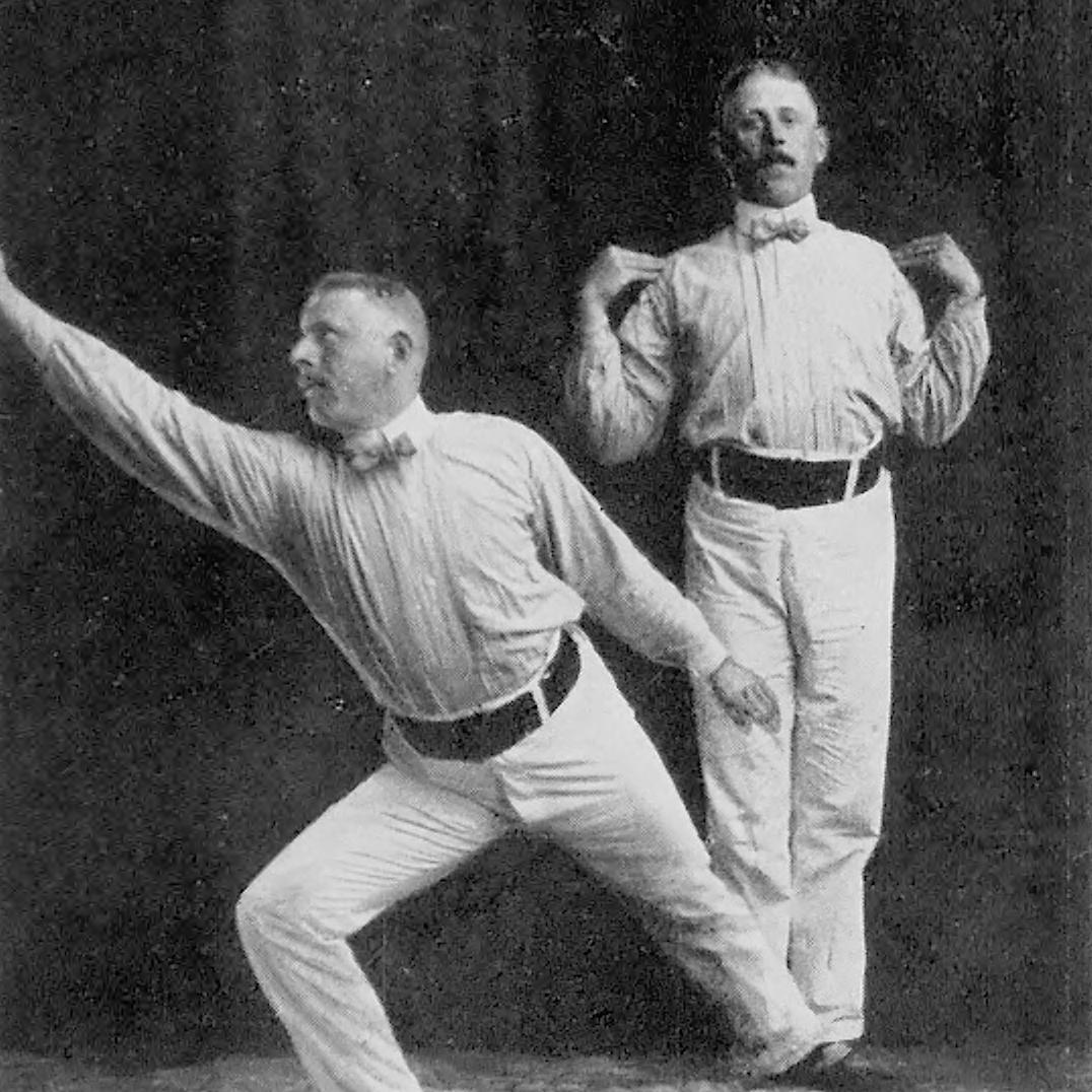 Schwedische Haus-Gymnastik nach dem System P.H. Ling's. Figur 21. Ausfall.