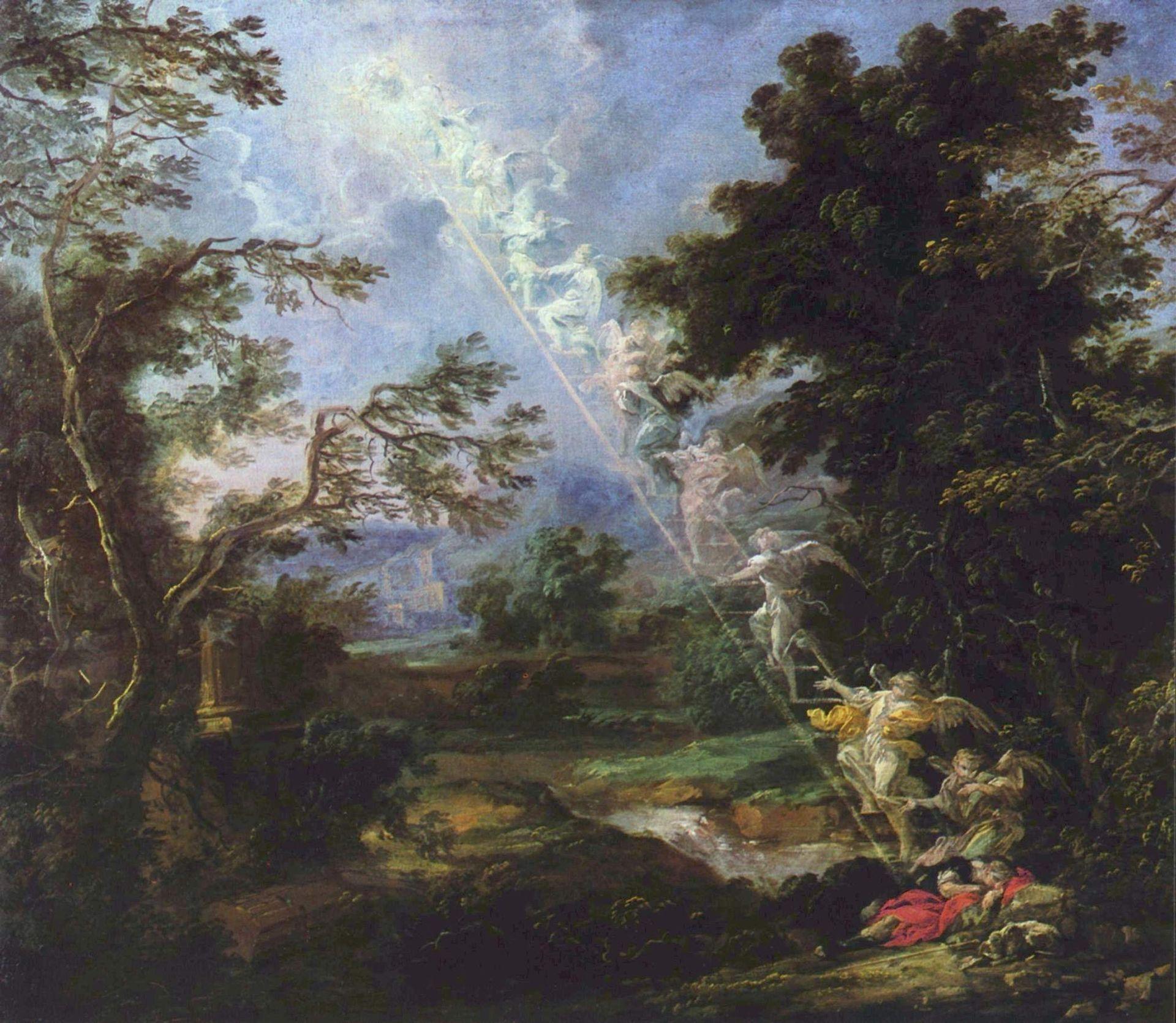 Michael Lukas: Landschaft mit dem Traum Jakobs.