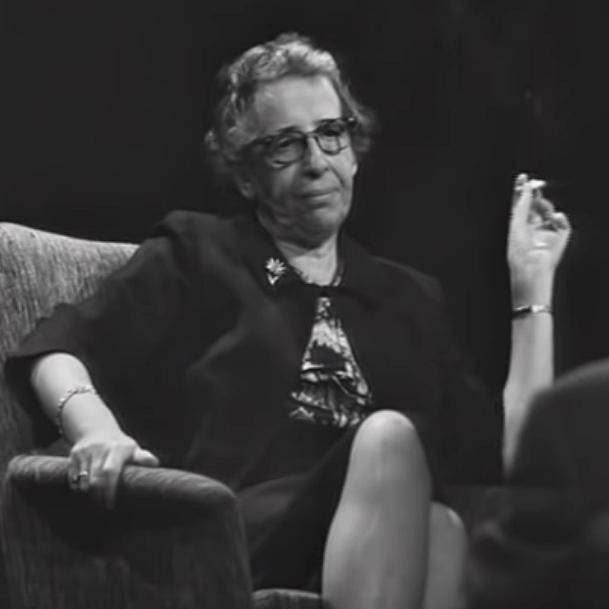 Hannah Arendt im Gespräch mit Günter Gaus.