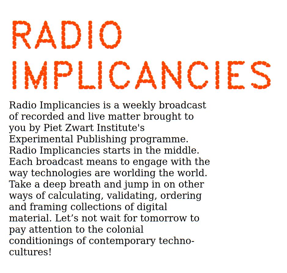 Radio Implicancies.