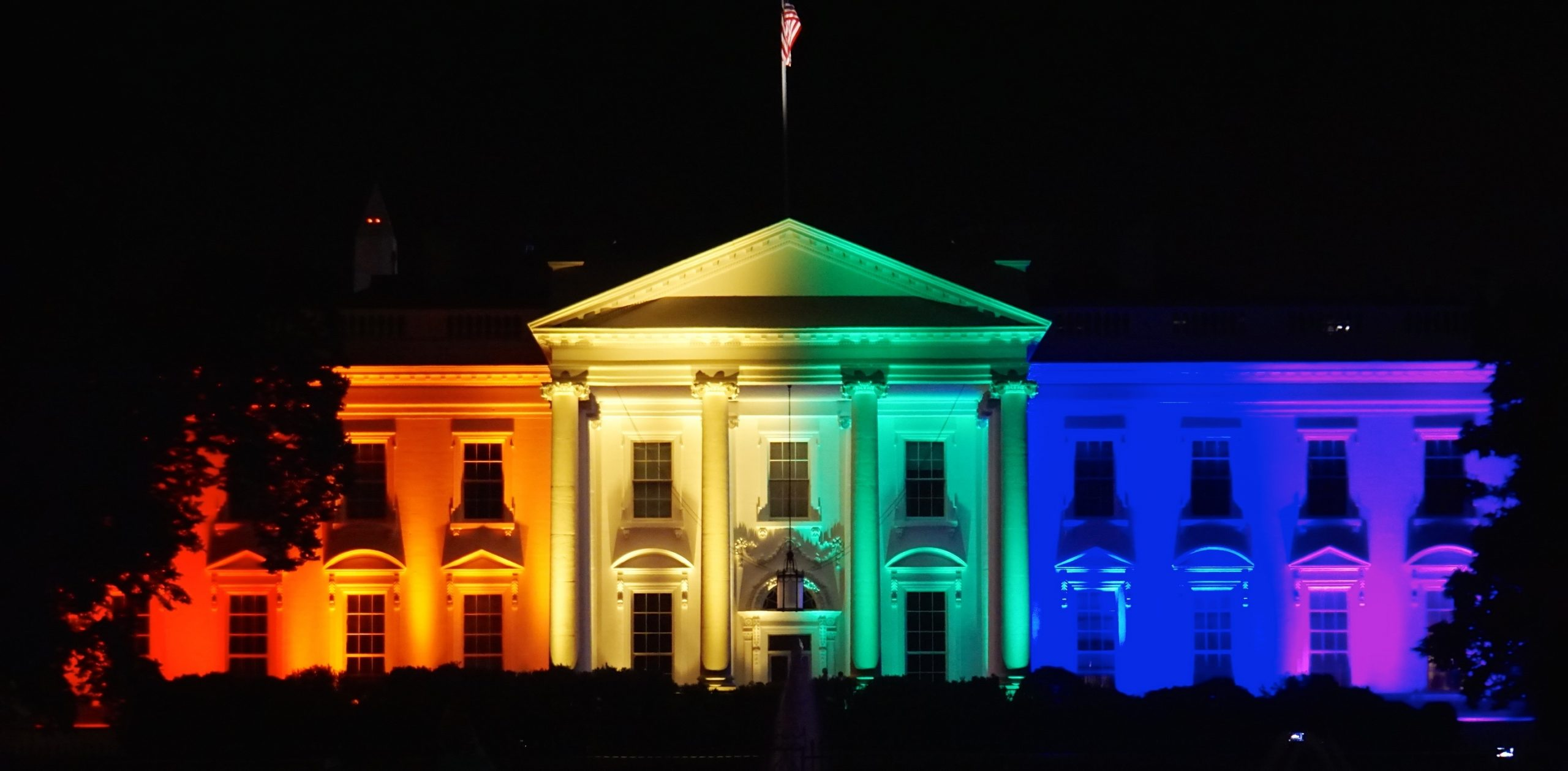 The White House after the ruling in the case of Obergefell v. Hodges on the night of June 26, 2015.