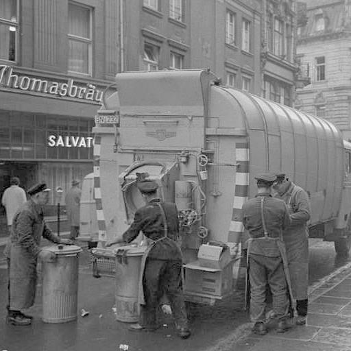 Müllabfuhreinsatz in Bonn, 1962