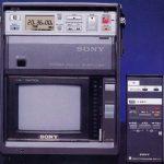 A rare Japanese market Betamax TV/VCR combo, the Model SL-MV1.