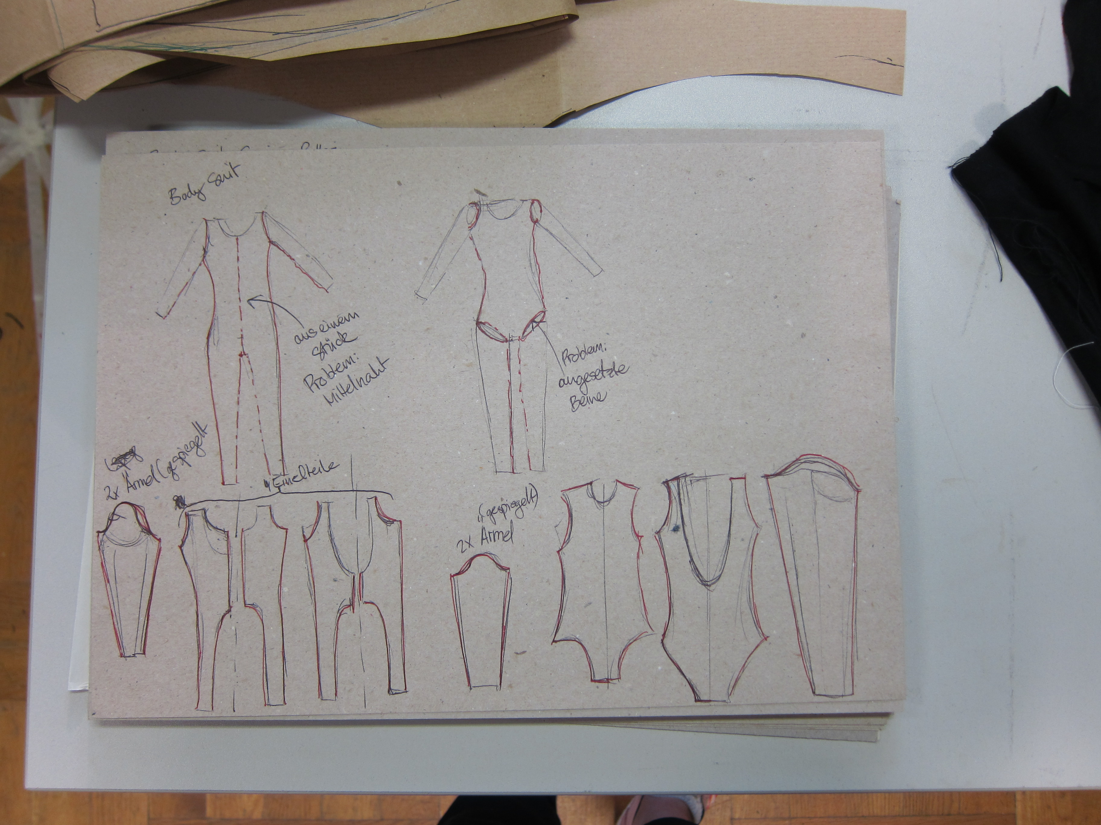 Making a sewing pattern for a full body suit costumes and sensors separate sewing pattern parts jeuxipadfo Image collections