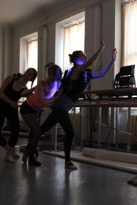 Johanna dancing.