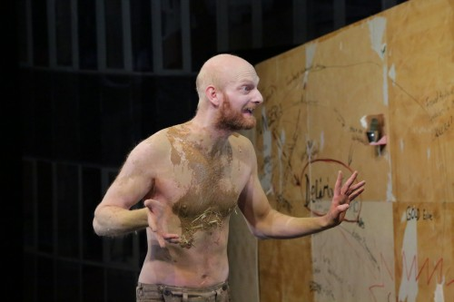 Heinrich without shirt but full of mud