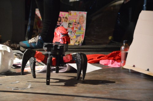 The robot was controlled by another person via remote control