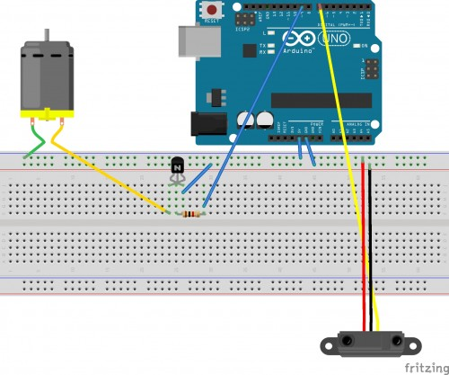 Distance Sensor and Vibration Motors.