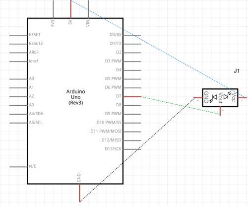 Distance Sensor Schematic