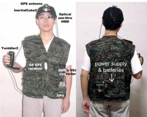 """Wearable Computer System (Source: AD Cheok et al, 2002)"""