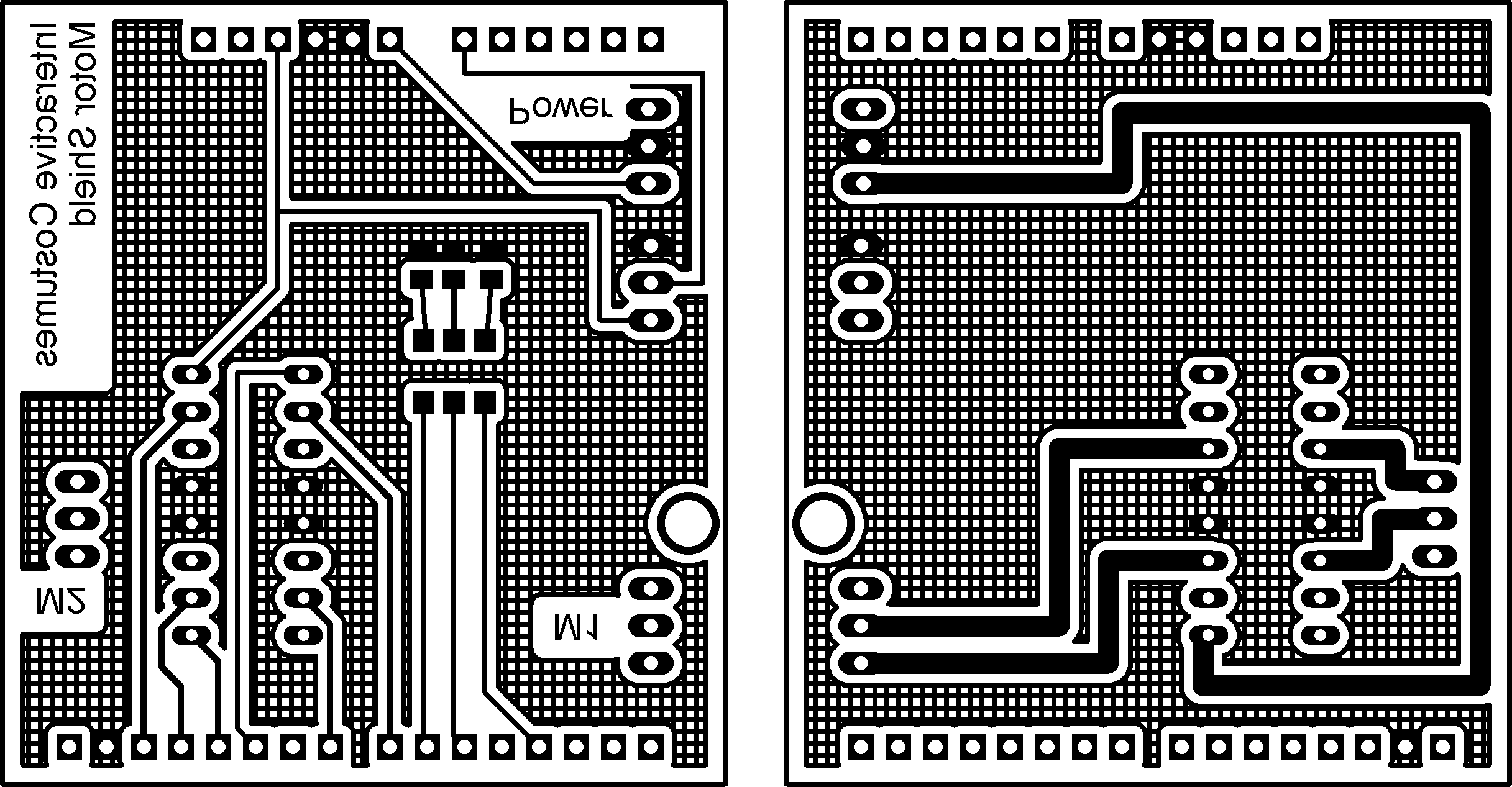Homemade Pcb Interactive Costumes Printed Circuit Boards In Minutes Pc Etching Prototyping Board Layout Left Top Layer Mirrored Right Bottom