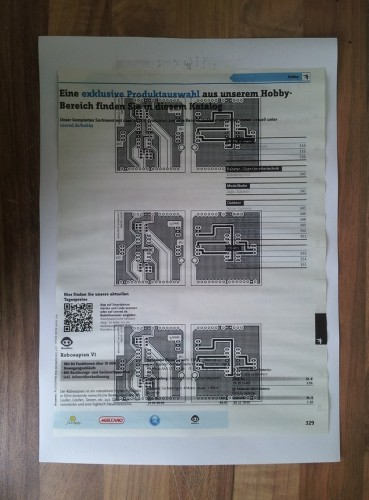 Layout on catalog paper